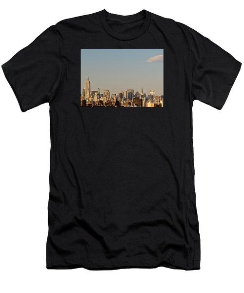 New York City Skyline Men's T-Shirt (Slim Fit) by Kerri Farley
