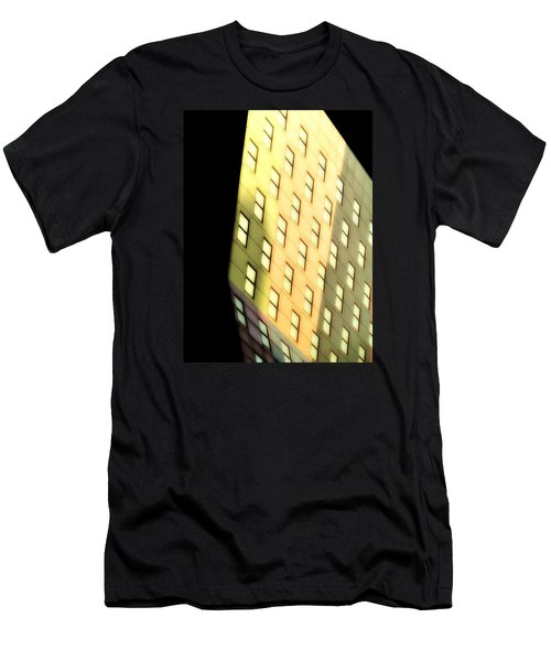 Men's T-Shirt (Slim Fit) featuring the photograph New York Sunset by Newel Hunter