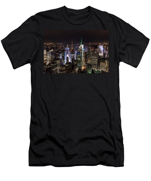 New York Times Square Men's T-Shirt (Slim Fit) by Matt Malloy