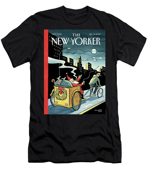 New Yorker December 15, 2008 Men's T-Shirt (Athletic Fit)