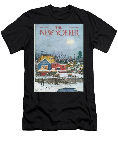 New Yorker January 6th, 1973 Men's T-Shirt (Athletic Fit)