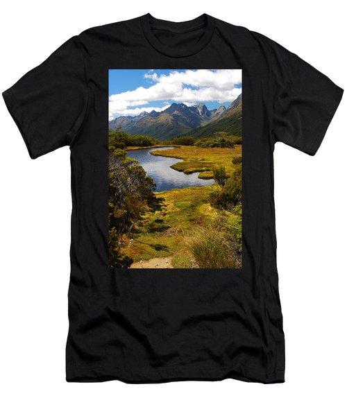 New Zealand Alpine Landscape Men's T-Shirt (Athletic Fit)