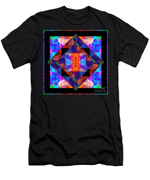 Newly Formed Bliss Mandala Artwork Men's T-Shirt (Athletic Fit)