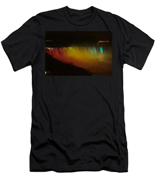 Men's T-Shirt (Slim Fit) featuring the photograph Niagara Falls A Glow by Dave Files