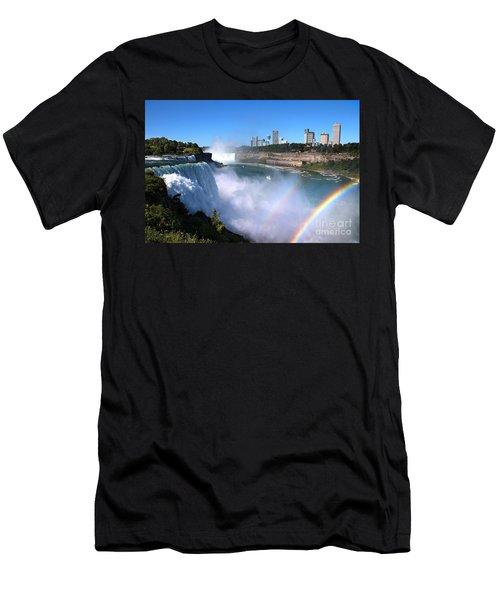 Niagara Falls Double Rainbow Men's T-Shirt (Athletic Fit)