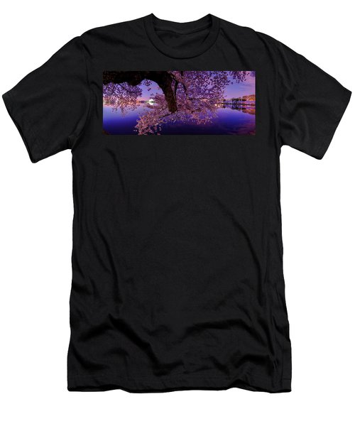 Night Blossoms Men's T-Shirt (Athletic Fit)