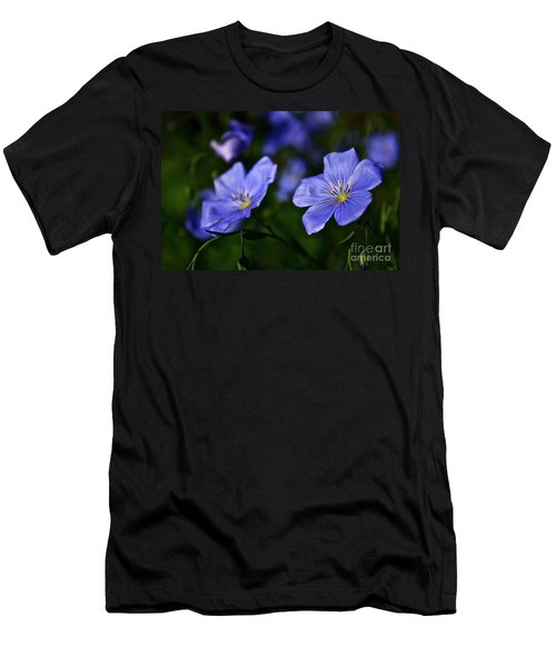 Men's T-Shirt (Slim Fit) featuring the photograph Night Garden by Linda Bianic