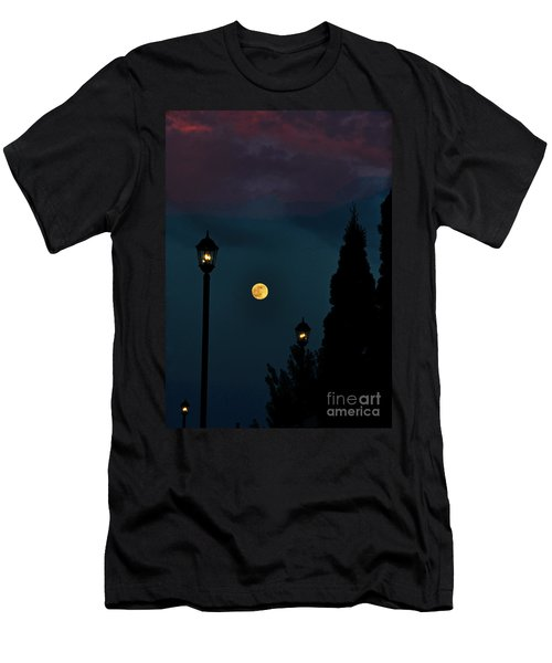 Night Lights Men's T-Shirt (Slim Fit) by Lydia Holly