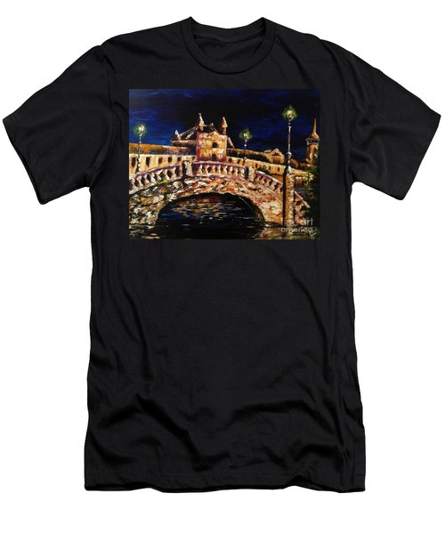 Night Passage Men's T-Shirt (Slim Fit) by Karen  Ferrand Carroll