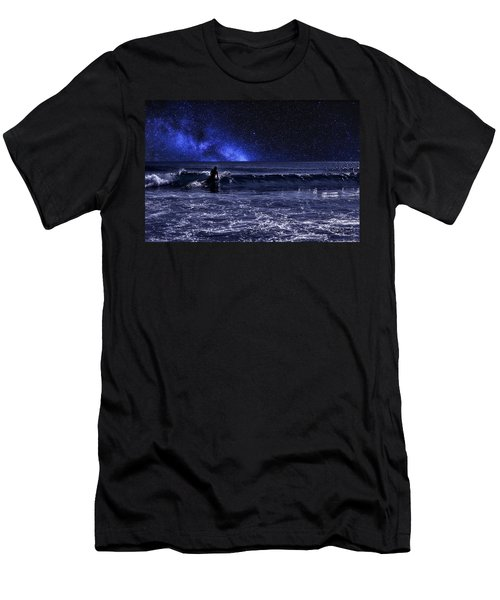 Night Surfer Men's T-Shirt (Athletic Fit)