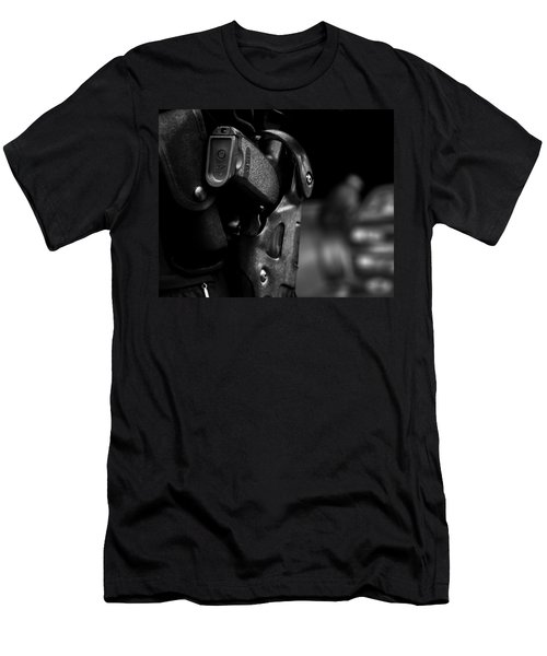 Night Traffic Stop Two Men's T-Shirt (Athletic Fit)