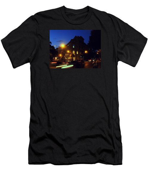 Men's T-Shirt (Slim Fit) featuring the photograph Night View by Salman Ravish
