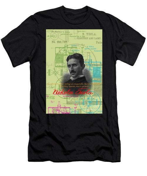 Nikola Tesla #3 Men's T-Shirt (Athletic Fit)