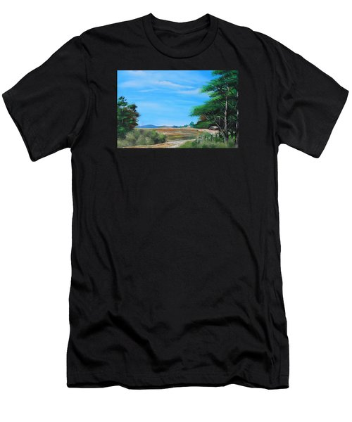 Nipa Hut In The Barrio Men's T-Shirt (Athletic Fit)