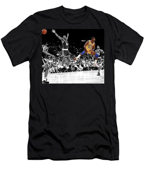 Men's T-Shirt (Slim Fit) featuring the photograph No Look Pass by Brian Reaves