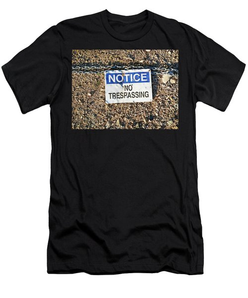 No Trespassing Sign On Ground Men's T-Shirt (Athletic Fit)