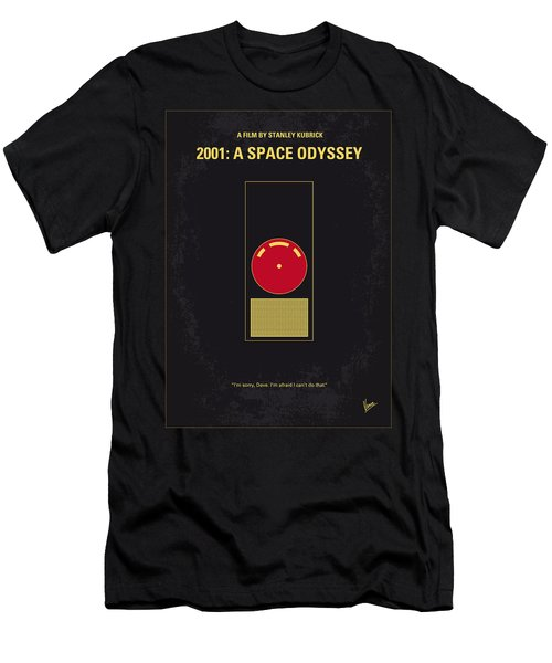 No003 My 2001 A Space Odyssey 2000 Minimal Movie Poster Men's T-Shirt (Athletic Fit)