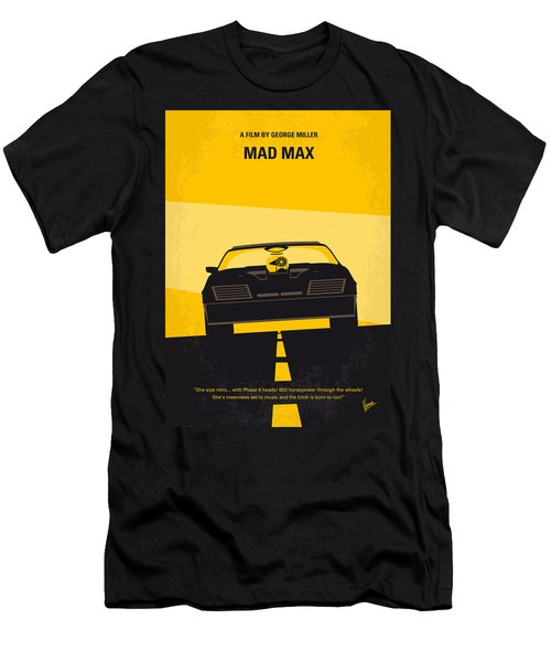 No051 My Mad Max Minimal Movie Poster Men's T-Shirt (Athletic Fit)
