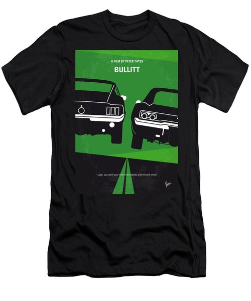 No214 My Bullitt Minimal Movie Poster Men's T-Shirt (Athletic Fit)