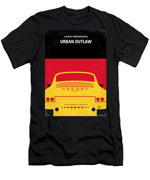 No316 My Urban Outlaw Minimal Movie Poster Men's T-Shirt (Athletic Fit)