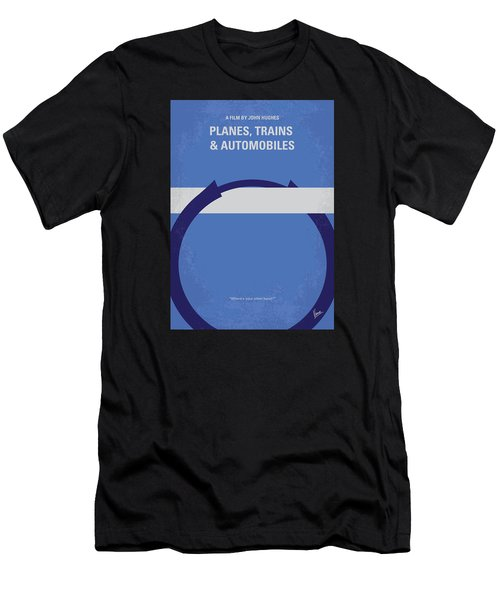 No376 My Planes Trains And Automobiles Minimal Movie Poster Men's T-Shirt (Athletic Fit)