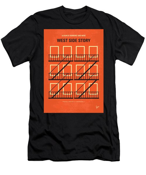 No387 My West Side Story Minimal Movie Poster Men's T-Shirt (Athletic Fit)