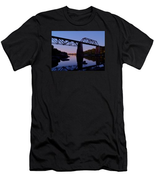 Norfolk-southern Crossing-1 Men's T-Shirt (Slim Fit) by Charles Hite