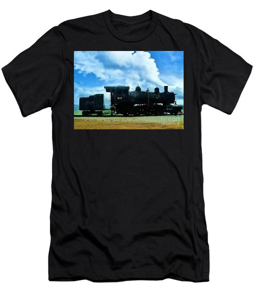Norfolk Western Steam Locomotive 917 Men's T-Shirt (Athletic Fit)