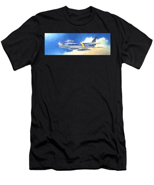North American F-86f Sabre Men's T-Shirt (Athletic Fit)