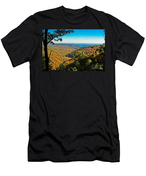 North Carolina Fall Foliage Men's T-Shirt (Athletic Fit)
