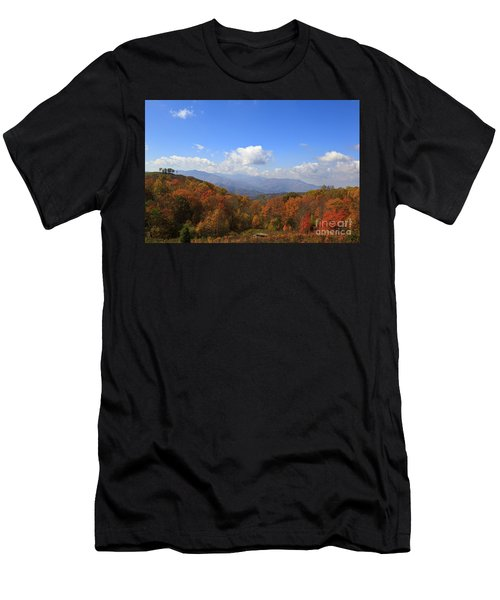 North Carolina Mountains In The Fall Men's T-Shirt (Athletic Fit)