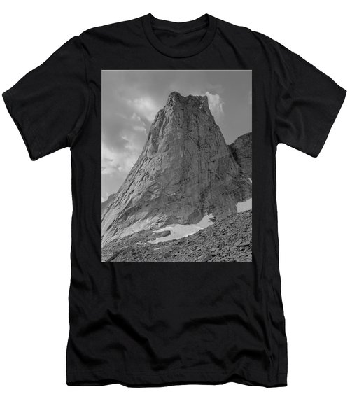 109649-bw-north Face Pingora Peak, Wind Rivers Men's T-Shirt (Athletic Fit)