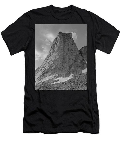 109649-bw-north Face Pingora Peak, Wind Rivers Men's T-Shirt (Athletic Fit)