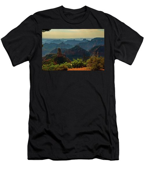 Men's T-Shirt (Slim Fit) featuring the photograph North Rim Grand Canyon Imperial Point by Bob and Nadine Johnston