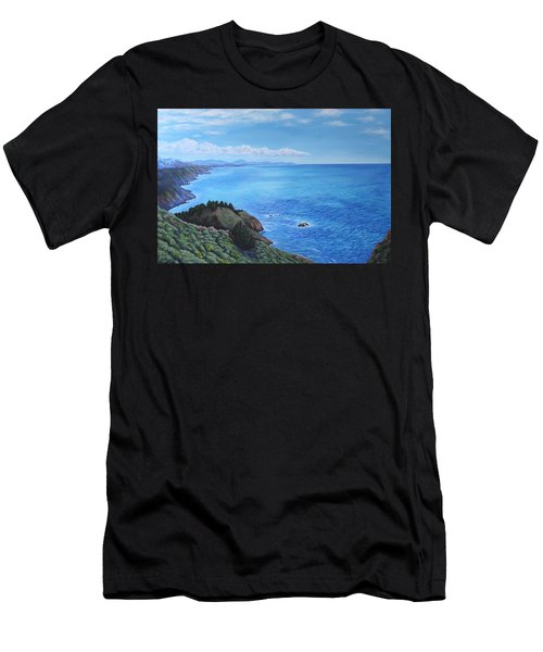 Northern California Coastline Men's T-Shirt (Athletic Fit)