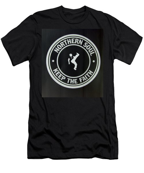 Northern Soul Dancer Inverted Men's T-Shirt (Athletic Fit)