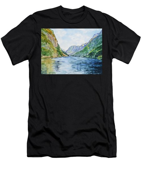 Norway Fjord Men's T-Shirt (Athletic Fit)