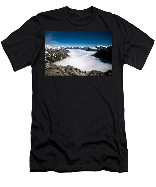 Norway In The Clouds Men's T-Shirt (Slim Fit) by Bill Howard