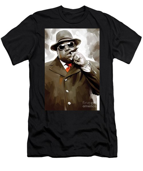 Notorious Big - Biggie Smalls Artwork 3 Men's T-Shirt (Slim Fit)
