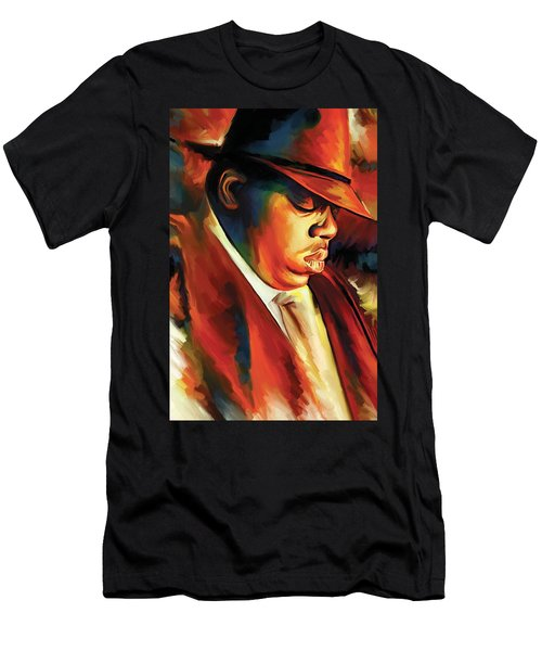 Notorious Big - Biggie Smalls Artwork Men's T-Shirt (Athletic Fit)