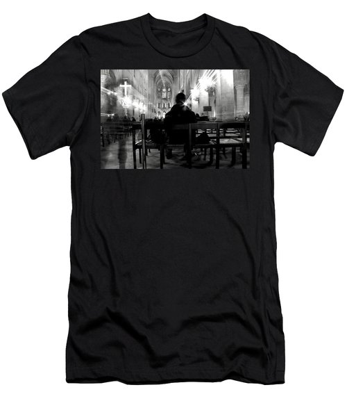 Men's T-Shirt (Slim Fit) featuring the photograph Notre-dame Paris by Danica Radman