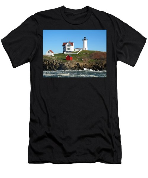Nubble Lighthouse One Men's T-Shirt (Athletic Fit)