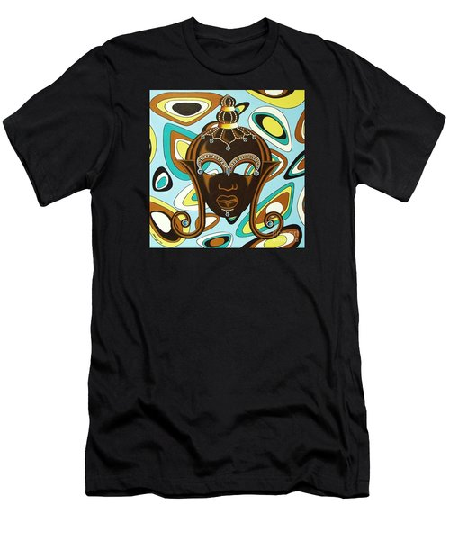 Nubian Modern  Mask Men's T-Shirt (Athletic Fit)