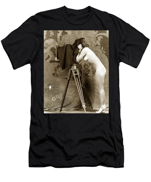 Nude In High Heel Shoes With Studio Camera Circa 1920 Men's T-Shirt (Athletic Fit)