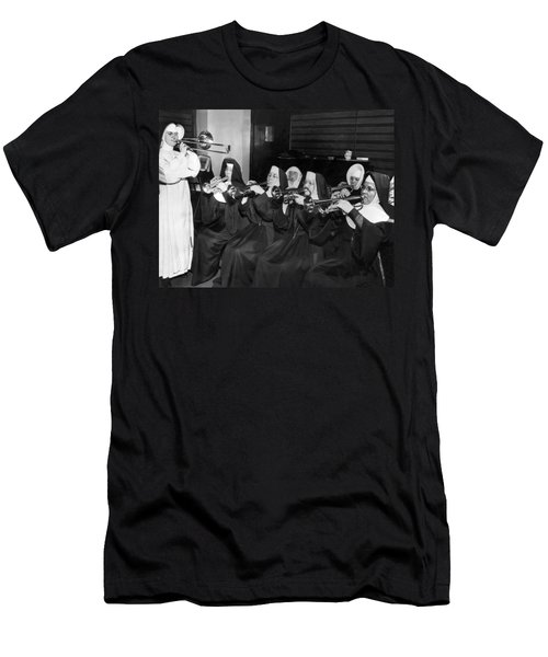 Nuns Rehearse For Concert Men's T-Shirt (Athletic Fit)
