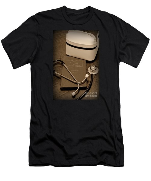Nurse - The Care Giver Men's T-Shirt (Athletic Fit)