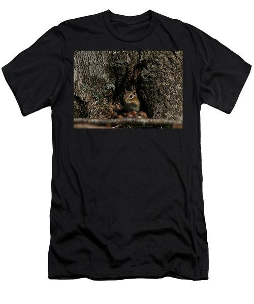 Men's T-Shirt (Slim Fit) featuring the photograph Nut Therapy  by Neal Eslinger