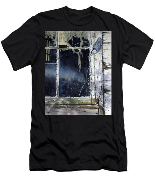 Nuthatch And Window Men's T-Shirt (Athletic Fit)