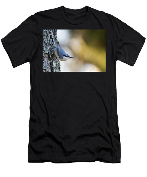 Nuthatch In The Classical Position Men's T-Shirt (Athletic Fit)