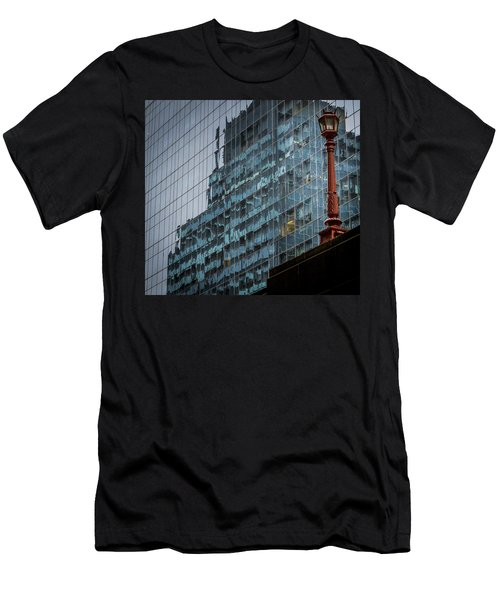 Ny Reflections With Lamp Men's T-Shirt (Athletic Fit)